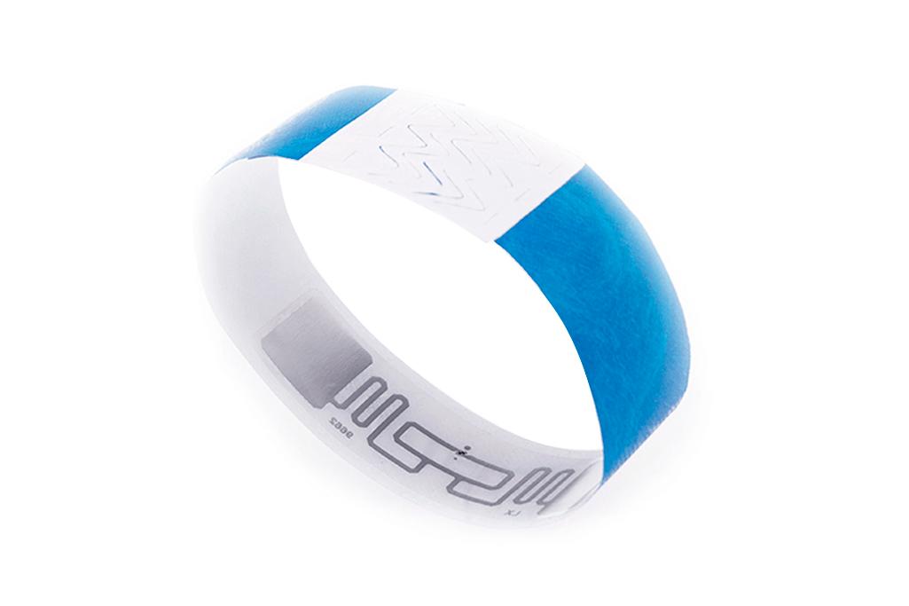 Pulseira TYVEK ajustávelcom chip RFID / NFC - Promobrace