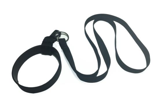 Porta-Copo de Silicone Liso com Mosquetão + Cordão Liso