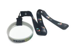 Porta-Copo de Silicone Personalizado com Mosquetão + Cordão Personalizado